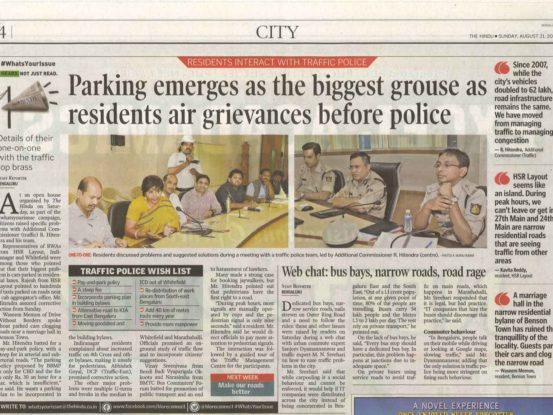 Report on RWA meeting with BTP officials
