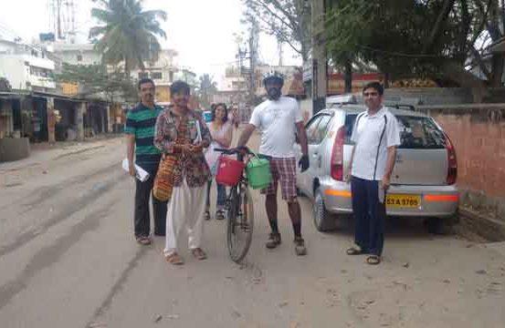 Segregation Awareness Drive Ward 190, Somasundarapalya, 27 Feb 2016.