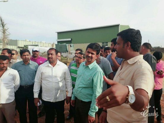 Meeting with MLA at KCDC Compost Plant at Kudlu